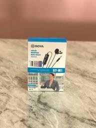 Boya Microfone Lapela By-m1 M1 P/ Smartphone, iPhone Cabo 6m