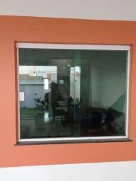 Vendo porta e janela de vidro