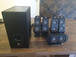 Home theater caixas de som Logitech 5.1