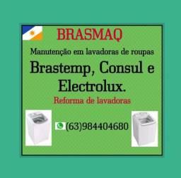 Manutenção em lavadoras de roupas da Brastemp, Consul e Electrolux.