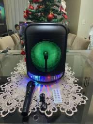 Caixa Som Bem alta C/Bluetooth FM Entrada Usb Sd