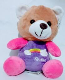 Urso rosa com lilas