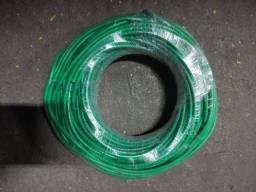 Título do anúncio: Cabo flexível 6mm 450/750 v superastic Prysmian verde e preto.