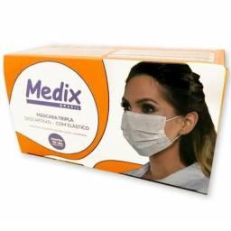 Máscara tripla descartável - Medix