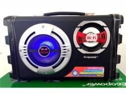 Caixa de Som Ecopower ep-2220 Preta Bluetooth Promoção