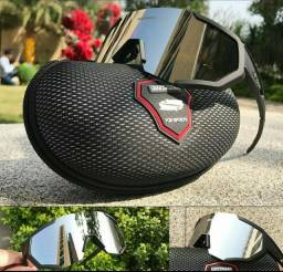 Título do anúncio: Óculos Ciclismo Queshark com 5 lentes