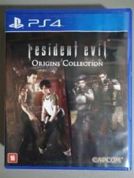 Jogo Ps4 Resident Evil Origens Colection R$ 100