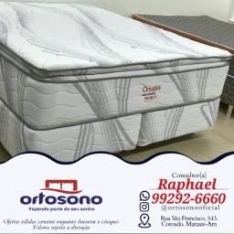 Título do anúncio: { Cama cama super king molas ensacadas - entrega gratis