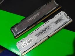 Memórias DDR4 2400 MHz Ballistic Sport (2x4)
