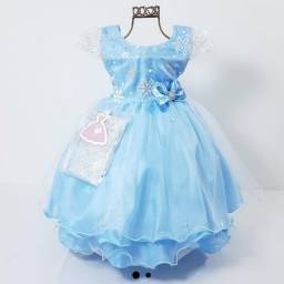 Vestido Frozen 1 e 4 anos