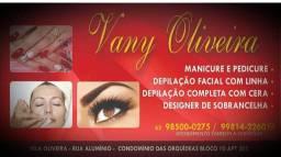 Manicure, depiladora designer de sobrancelhas!