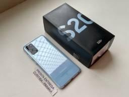 Título do anúncio: Samsung Galaxy S20+ Cloud Blue 128gb (Usado). Troco.