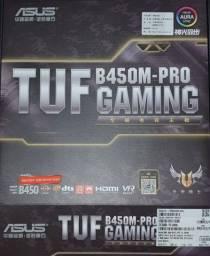 Kit Placa Mãe Motherboard Asus Tuf B450m Pro Gaming + CPU Processador AMD Ryzen 5 3600 R5