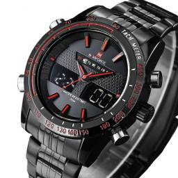 Relógio Esportivo Naviforce Red Digital/Analógico à Prova D'água 3 ATM 100% Novo/Original