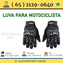 Luvas para Motociclistas Dedo Longo Fechada com Proteção