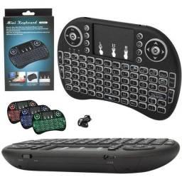 Título do anúncio: Mini Teclado Tv Box Controle S/ Fio Touch Led Pc/note/gamer/tvsmart/