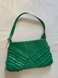 Bolsa pequena verde bandeira da Arezzo