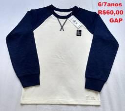 NOVO blusa GAP 6 a 7 anos