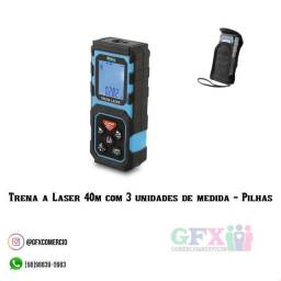 TRENAA LASER 40M COM 3 UNIDADES DE MEDIDA - PILHAS