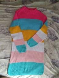 Vestido tricô modal