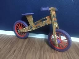 Bicicleta de equilíbrio de madeira -Balance Bike - Biciquetinha