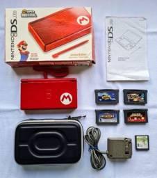 Nintendo Ds Lite Mario Edition Completo Colecionador