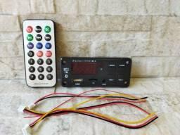 Título do anúncio: Placa Mp3 Bluetooth 5.0 Usb Mini Sd Fm C/ Controle 12V