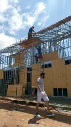 Construção de casas em steelframe