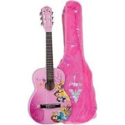 Violão Acústico Nylon Infantil Disney Princesa Vip-3<br><br>