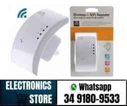 Repetidor De Sinal Wifi Expansor Wireless 300m Internet (Fazemos Entregas)