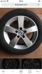 Duas rodas com pneu Honda civic 2009