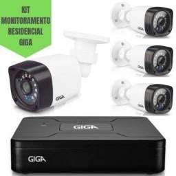 Kit 04 Cameras de Seguranca -Giga Acompanhe Online