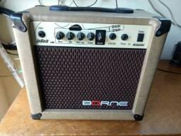 Amplificador de violão ou guitarra 30 watts rms marca Borne cv80 semi novo