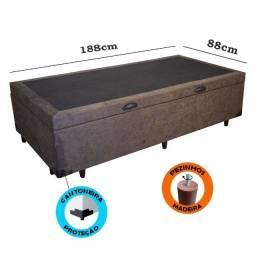 Título do anúncio: Base Box Baú Solteiro com Pistão à Gás - 88 x 188 x 35 cm - (Somos Fabricantes)