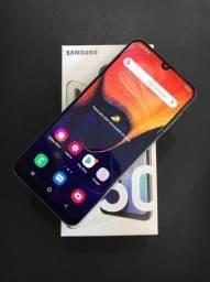 Samsung A50 128GB Completo com garantia e NF Entrega Grátis Divido no cartão até 12X