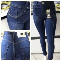 Calça Jeans Feminina Cintura Alta com Muito Elastano. Frete Grátis Todo Brasil