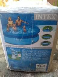Piscina com filtro Intex