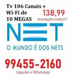Net com roteador wi-fi e 120 megas de internet 994552160