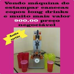 Maquina de estampa copos de acrilico