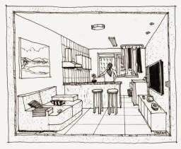 Procuro apartamento mobiliado