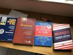 Livros ingles: gramática por 250 reais aceito cartão e parcelo