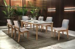 Sala de Jantar com seis cadeiras