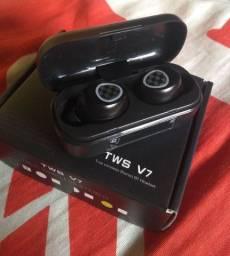 Fone bluetooth TWS V7 novo