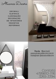 Projeto de Interiores / Parede em Drywall / Placa em 3D