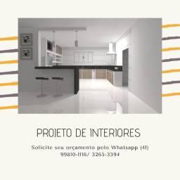 Projeto de Interiores / Forro em Drywall / Placa em 3D / Elétrica