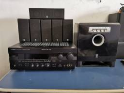 Home Teather Yamaha 6.1 Com Receiver Yamaha RX-V995
