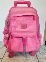 Mochila de 4 rodas rosa da marca Up4 you