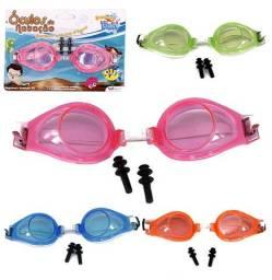Kit Natação Com Óculos de Natação + Protetor de Ouvido