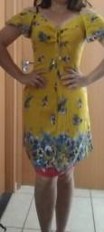 Lindo vestido amarelo tamanho M