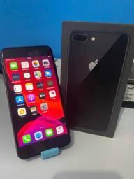 iPhone 8 Plus 64gb completo na caixa ( aceito troca)